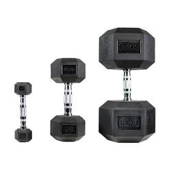 Гантель обгумована PROUD HEX (1-60 кг)