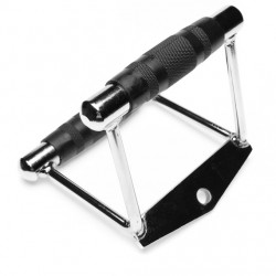 Двойная ручка для тяги узким хватом обрезиненная PROUD